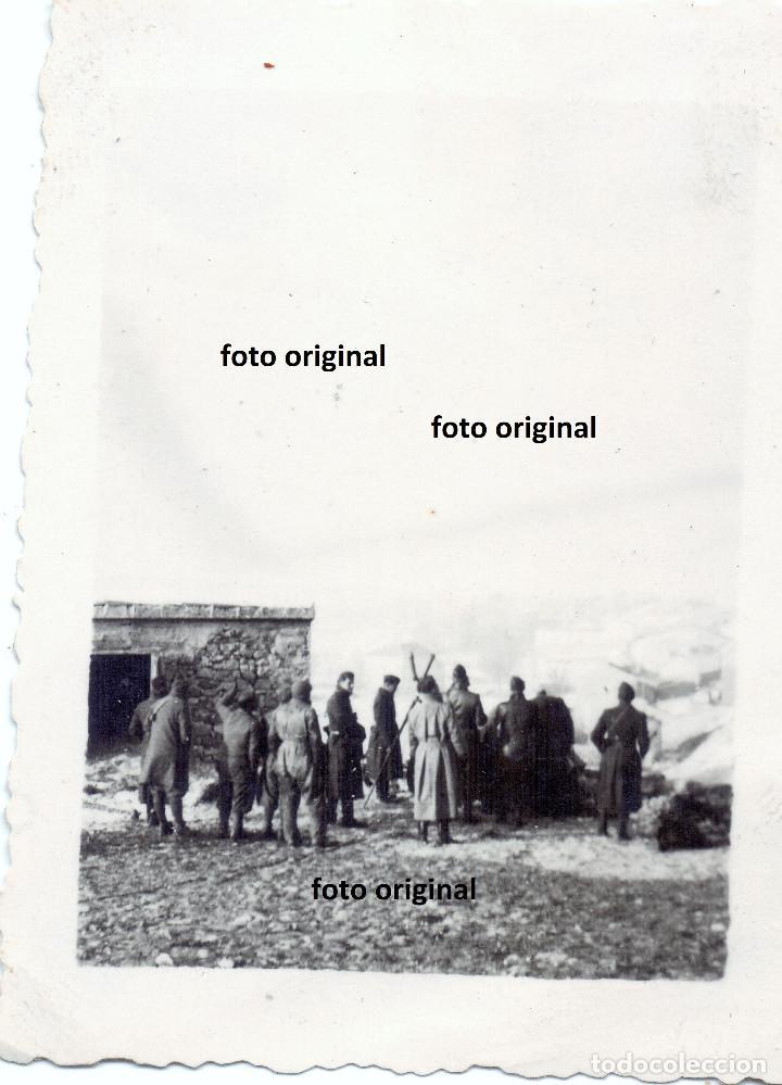 BASE MANDO OFICIALES LEGION CONDOR SAN BLAS BATALLA DE TERUEL 1938 GUERRA CIVIL (Militar - Fotografía Militar - Guerra Civil Española)