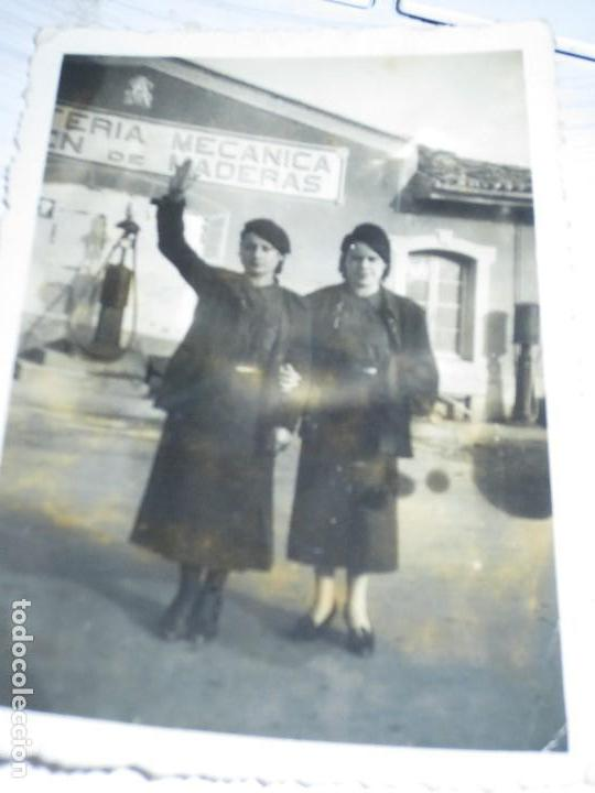 Militaria: FALANjISTAS CHICAS SOLDADOS ANTIGUA FOTO MILITAR FEMIINA FALANGE MIRANDA EBRO GUERRA CIVIL 1939 - Foto 2 - 129159539