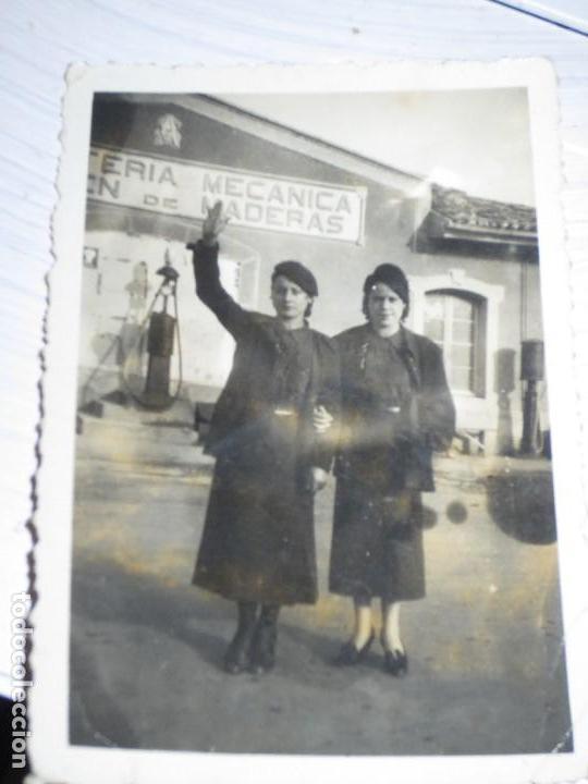 FALANJISTAS CHICAS SOLDADOS ANTIGUA FOTO MILITAR FEMIINA FALANGE MIRANDA EBRO GUERRA CIVIL 1939 (Militar - Fotografía Militar - Otros)