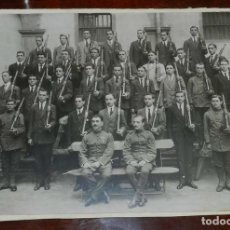 Militaria: ANTIGUA FOTOGRAFIA DE MILITARES, JUNTO CON PERSONAL CIVIL ARMADO CON FUSILES, SOMATEN, POSIBLEMENTE. Lote 129252519