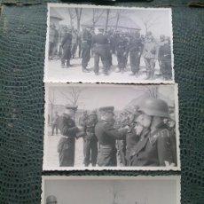 Militaria: ENTREGA DE CONDECORACIONES A TROPAS PANZER WEHRMACHT - 3 FOTOS ORIGINALES. Lote 129266959