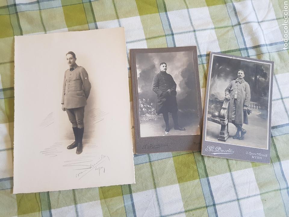 3 FOTOGRAFÍAS FRANCIA PRIMERA GUERRA MUNDIAL (Militar - Fotografía Militar - I Guerra Mundial)