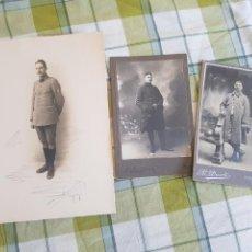 Militaria: 3 FOTOGRAFÍAS FRANCIA PRIMERA GUERRA MUNDIAL. Lote 129346272