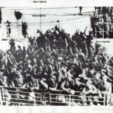 Militaria: RETORNO TROPAS ITALIANAS CTV A NAPOLES OCTUBRE 1938 GUERRA CIVIL. Lote 130107731