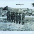 Militaria: ARTILLEROS LEGION CONDOR 1.F/88 VESTIDOS CHAMBERGO BANDERA ESPAÑOLA ZARAGOZA GUERRA CIVIL. Lote 130109255