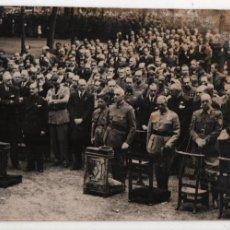 Militaria: FOTOPRENSA ESPAÑOLA ABC. JEFES MILITARES, EN MISA POR... JUNIO 1938, MIDE:19 X 9 C.M. VER FOTOS. Lote 130116423