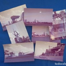 Militaria: 13 FOTOGRAFIAS DEL CRUCERO USS DEWEY DGG45. Lote 130213047