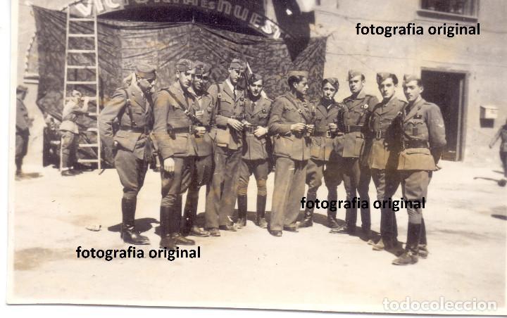 OFICIALES ITALIANOS CTV CUARTEL ARAGONES LA VICTORIA ES NUESTRA GUERRA CIVIL (Militaria - Militärische Fotografien - Spanischer Bürgerkrieg)