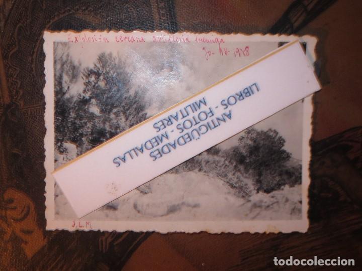 Militaria: EXPLOSION CERCANA DE ARTILLERIA ENEMIGA 30 IX 1938 GUERRA CIVIL AVANCE SOBRE CATALUÑA - Foto 3 - 130373034