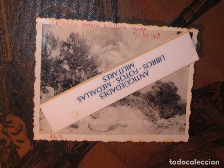 Militaria: EXPLOSION CERCANA DE ARTILLERIA ENEMIGA 30 IX 1938 GUERRA CIVIL AVANCE SOBRE CATALUÑA - Foto 4 - 130373034