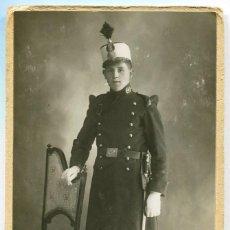Militaria: FOTOGRAFÍA DE UN SOLDADO DE INTENDENCIA, ALFONSO XIII. Lote 130597382