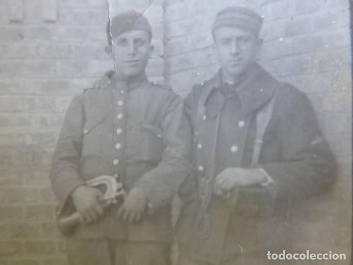 FOTOGRAFÍA SOLDADOS CORNETAS DEL EJÉRCITO ESPAÑOL. AVIACIÓN (Militar - Fotografía Militar - Otros)
