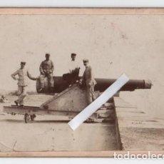 Militaria: (ALB-TC-1) ANTIGUA FOTOGRAFIA TEMA MILITAR DESCONOZCO EPOCA MUY INTERESANTE. Lote 130722159