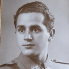 Militaria: FOTOGRAFÍA ALFÉREZ PROVISIONAL DEL EJÉRCITO ESPAÑOL. AMETRALLADORAS 1940. Lote 131009864