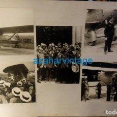 Militaria: SEVILLA, 1929, AVIACION, LOTE 5 FOTOGRAFIAS VUELO JESUS DEL GRAN PODER, ESPECTACULARES,LEER MEDIDAS. Lote 131330042