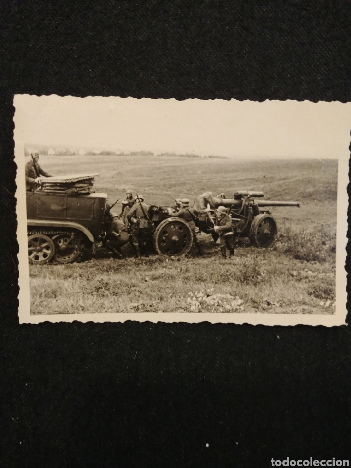FOTOGRAFIA SEGUNDA GUERRA CAÑON EN ACCION (Militar - Fotografía Militar - II Guerra Mundial)