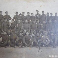 Militaria: FOTOGRAFÍA SOLDADOS ARTILLERÍA DEL EJÉRCITO ESPAÑOL. GUERRA DE MARRUECOS. Lote 131595162