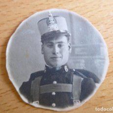 Militaria: FOTOGRAFÍA SOLDADO DEL EJÉRCITO ESPAÑOL. REGIMIENTO INFANTERÍA 6. Lote 131596630