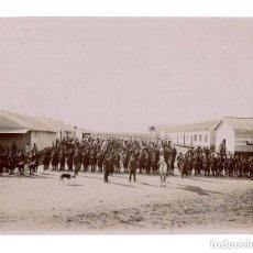 Militaria: CASA BLANCA.- 1911.- VISTA GENERAL DE LA FUERZA EN EL CAMPAMENTO ESPAÑOL. 12,5 X 17 CM. Lote 131705978