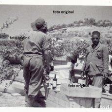 Militaria: ARTILLEROS LEGION CONDOR Y MOROS EN CERCANIAS ALCAÑIZ(TERUEL) GUERRA CIVIL. Lote 131842482