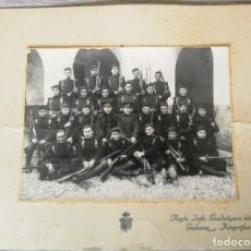 Militaria: ANTIGUA Y PRECIOSA FOTOGRAFIA - REGIMIENTO INFANTERIA GUADALAJARA Nº 20 DE VALENCIA - EPOCA ALFONSO. Lote 131870654