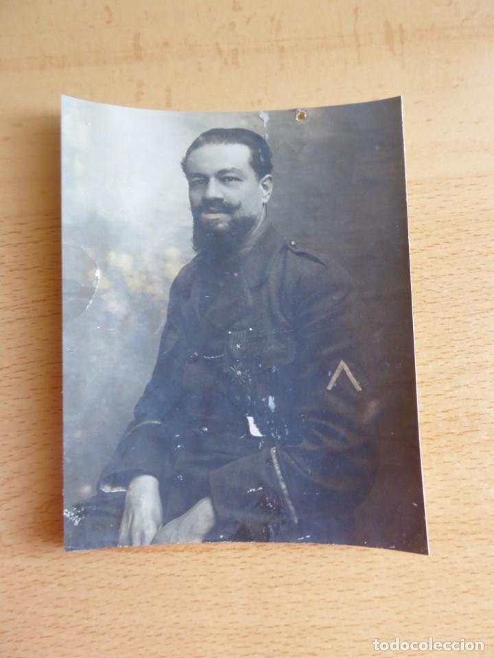 Militaria: Fotografía soldado del ejército belga. Croix de guerre - Foto 2 - 132339366