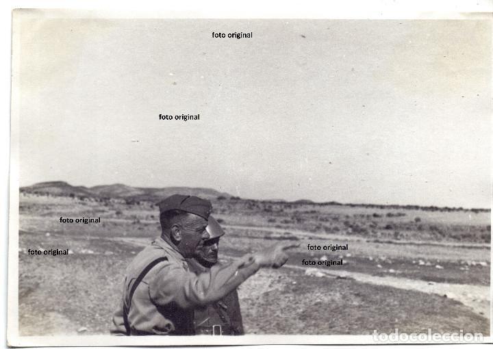 FOTO GENERAL FRUSCI CTV ITALIANO DIVISION LITTORIO ALCORISA(TERUEL) 1938 GUERRA CIVIL (Militar - Fotografía Militar - Guerra Civil Española)