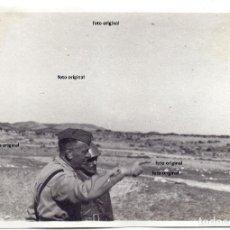 Militaria: FOTO GENERAL FRUSCI CTV ITALIANO DIVISION LITTORIO ALCORISA(TERUEL) 1938 GUERRA CIVIL. Lote 132394218