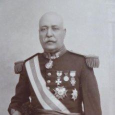 Militaria: FOTOGRAFÍA COMANDANTE GENERAL DE INFANTERÍA DE MARINA. CAMILO MARTINEZ FRANCECH CARTAGENA 1925. Lote 132759982