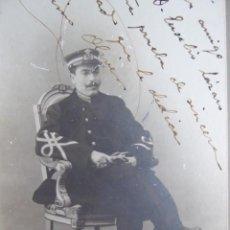 Militaria: FOTOGRAFÍA MÚSICO MAYOR INFANTERÍA DE MARINA. GERÓNIMO OLIVER ALBIOL CARTAGENA 1908. Lote 132760338
