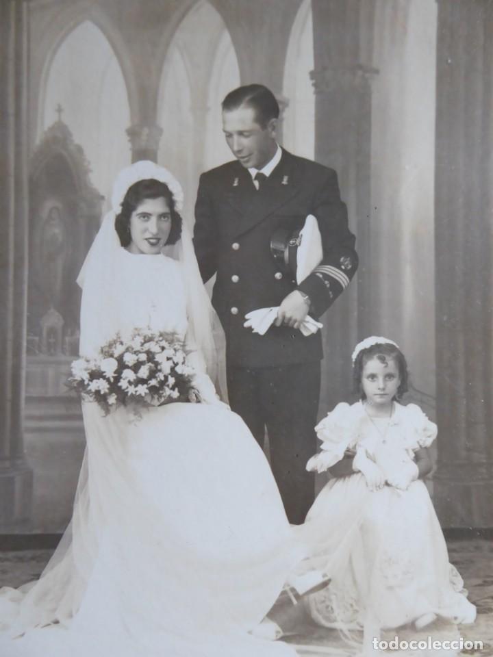 FOTOGRAFÍA SARGENTO INFANTERÍA DE MARINA. LAUREADA COLECTIVA 18 DE JULIO CÁDIZ (Militar - Fotografía Militar - Otros)