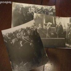 Militaria: 3 FOTOGRAFIA CADIZ 1927 VICEALMIRANTE NORTEAMERICANO PHILIP ANDRE Y EL REY ALFONSO XIII - BARCO . Lote 132937654