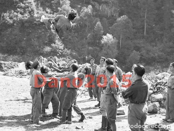 Militaria: Huesca, Campamento los Soldados se Divierten, Aragon - Guerra Civil Española - Negativo de Celuloide - Foto 2 - 133504826