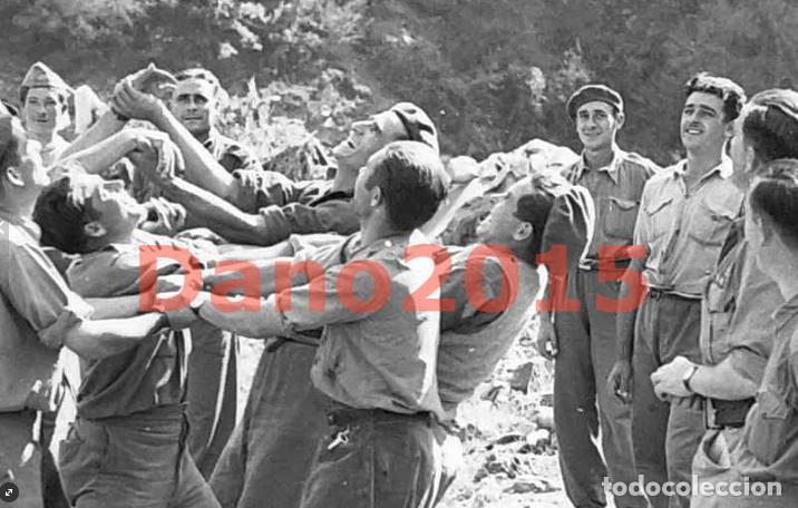 Militaria: Huesca, Campamento los Soldados se Divierten, Aragon - Guerra Civil Española - Negativo de Celuloide - Foto 3 - 133504826