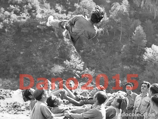 Militaria: Huesca, Campamento los Soldados se Divierten, Aragon - Guerra Civil Española - Negativo de Celuloide - Foto 4 - 133504826