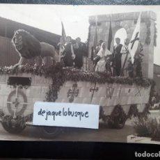 Militaria: LOTE 4 FOTOGRAFIAS DESFILE FRANCO LARACHE MAYO 1939. FALANGE SECCIÓN FEMENINA.GUERRA CIVIL. DIODORO. Lote 133504978
