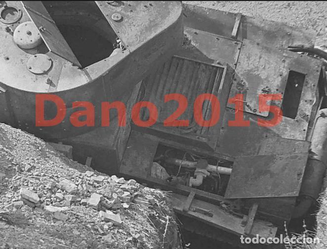 Militaria: Tanque Destruido en Sarrion Teruel Guerra Civil Española - Negativo de Celuloide - Foto 3 - 133543282