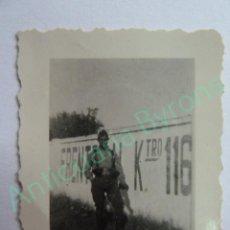 Militaria: FOTOGRAFÍA ORIGINAL. SOLDADO GUERRA CIVIL 1936 (4,5 X 4 CM). Lote 133623094