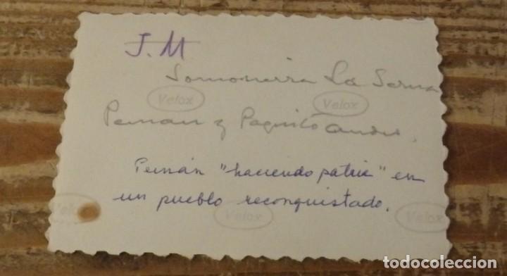 Militaria: SOMOSIERRA, 1937, FALANGE, JOSE MARIA PEMAN DANDO UN DISCURSO PATRIOTICO, RARISIMA,85X60MM - Foto 2 - 133669642