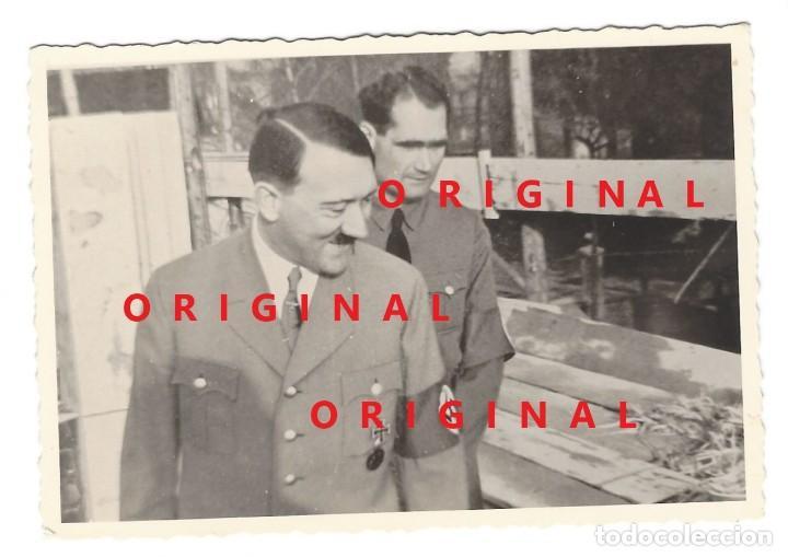 HITLER Y HESS EN PAPEL ORIGINAL AGFA (Militar - Fotografía Militar - II Guerra Mundial)