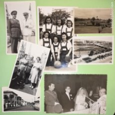 Militaria: LOTE FOTOGRAFÍAS FAMILIARES GENERAL DE DIVISIÓN GUINEA SANTA ISABEL EQUIPO FEMENINO SEU. Lote 134035734
