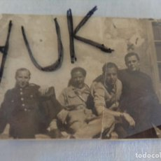 Militaria: BONITA FOTOGRAFIA DE 4 SOLDADOS REPUBLICANOS EN PORT BOU --- 20 ABRIL DE 1938. Lote 134038274
