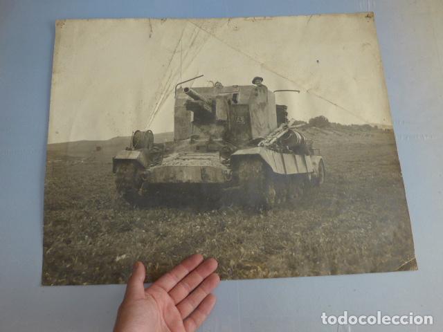 * ANTIGUA GRAN FOTOGRAFIA DE UN TANQUE INGLES, PARECE I GUERRA MUNDIAL. ZX (Militar - Fotografía Militar - I Guerra Mundial)