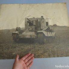 Militaria: * ANTIGUA GRAN FOTOGRAFIA DE UN TANQUE INGLES, PARECE I GUERRA MUNDIAL. ZX. Lote 134080102