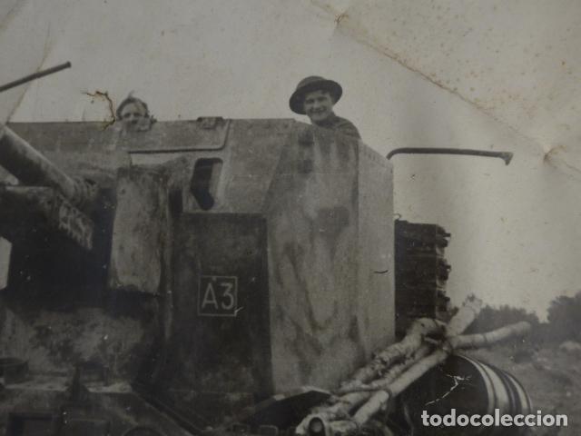 Militaria: * Antigua gran fotografia de un tanque ingles, parece I guerra mundial. ZX - Foto 2 - 134080102