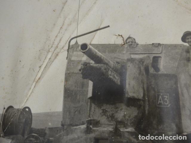 Militaria: * Antigua gran fotografia de un tanque ingles, parece I guerra mundial. ZX - Foto 3 - 134080102