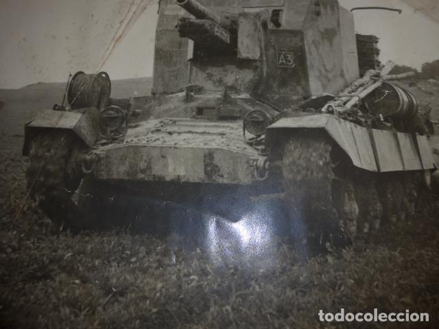Militaria: * Antigua gran fotografia de un tanque ingles, parece I guerra mundial. ZX - Foto 4 - 134080102