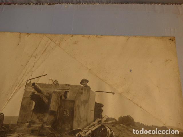 Militaria: * Antigua gran fotografia de un tanque ingles, parece I guerra mundial. ZX - Foto 5 - 134080102