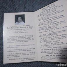 Militaria: RECORDATORIO DEFUNCIÓN VÍCTIMA BOMBARDEO DE DURANGO 1937. . Lote 134290582