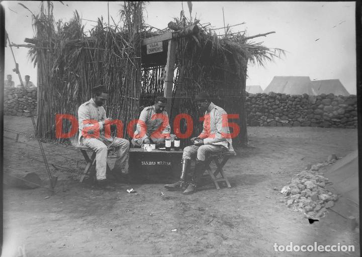 CAMPAÑA MILITAR GUERRA DEL RIF MARRUECOS 1909 SANIDAD MILITAR - NEGATIVO DE CRISTAL (Militar - Fotografía Militar - Otros)